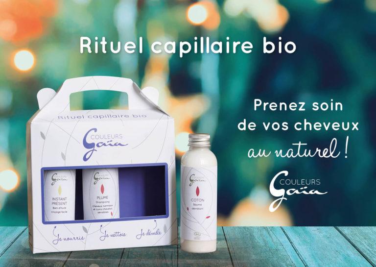 Coffret cadeau de produits capillaires bio