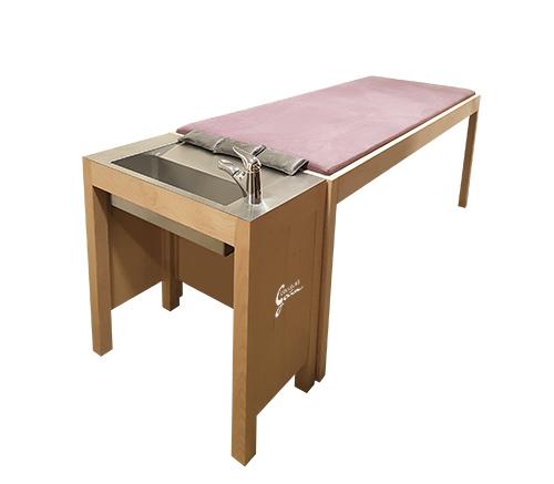 table allongée pour salons de coiffure